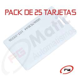 Pack 25 tarjetas SCARD 125KHZ CAR TAG